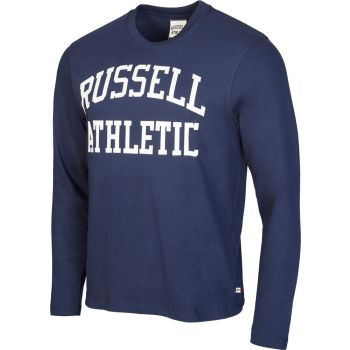 Russell Athletic L/S CREW NECK TEE WITH LOGO PRINT, moška majica, modra