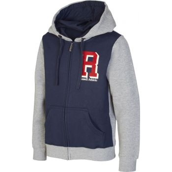 Russell Athletic ZIP THROUGH HOODY-'R' PRINT, jopa o., modra