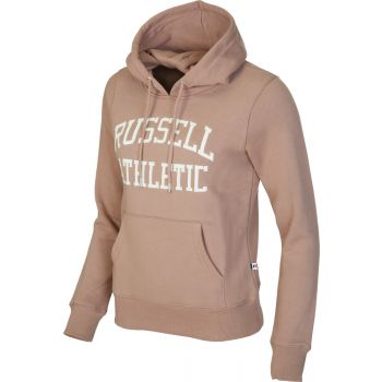 Russell Athletic PULL OVER LOGO HOODY, pulover ž., rjava