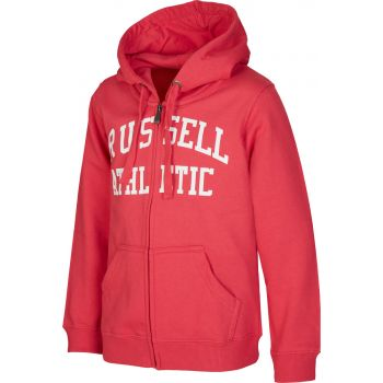 Russell Athletic ZIP THROUGH LOGO HOODY, jopa o., rdeča