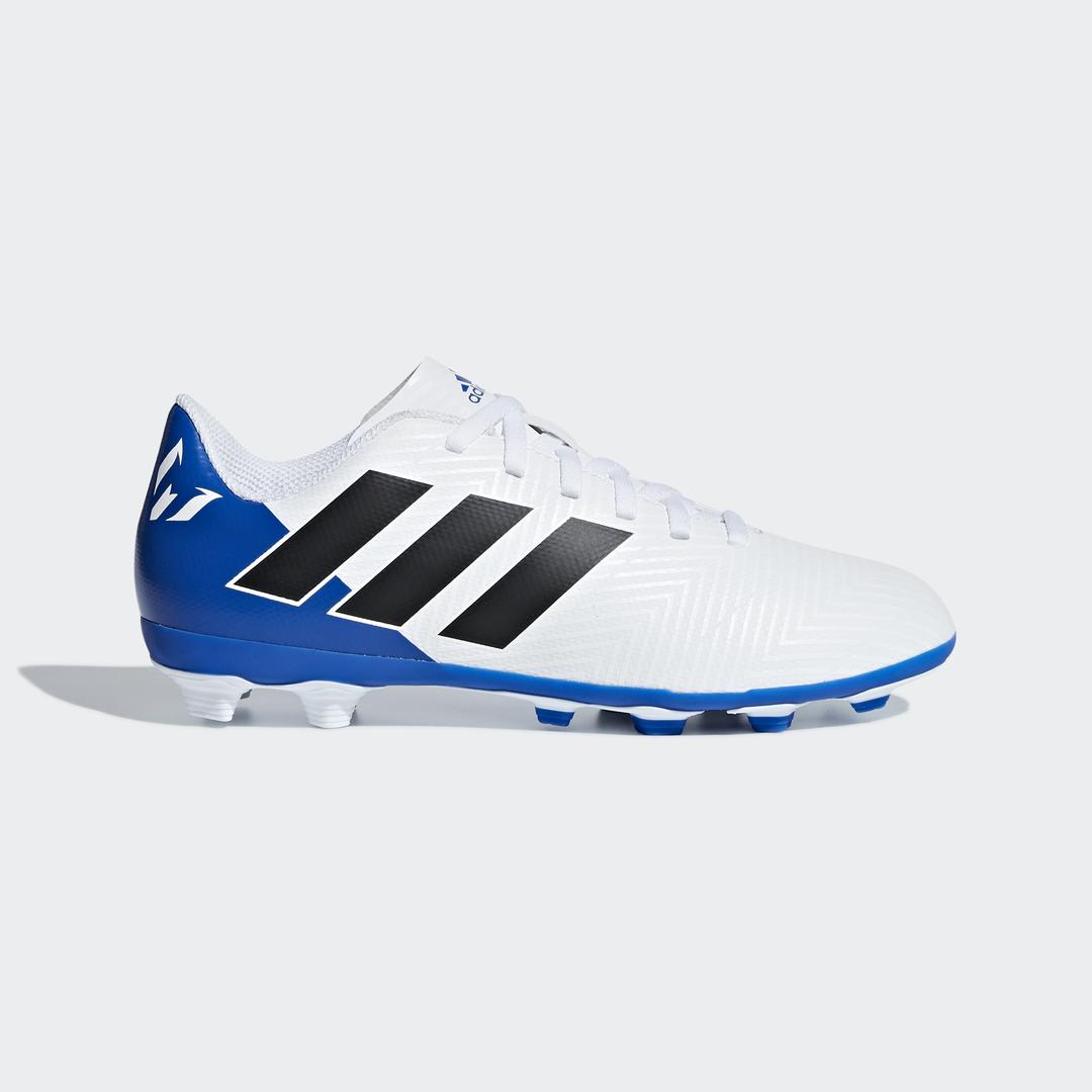 adidas NEMEZIZ MESSI 18.4 FXG J, otroški nogometni čevlji, bela