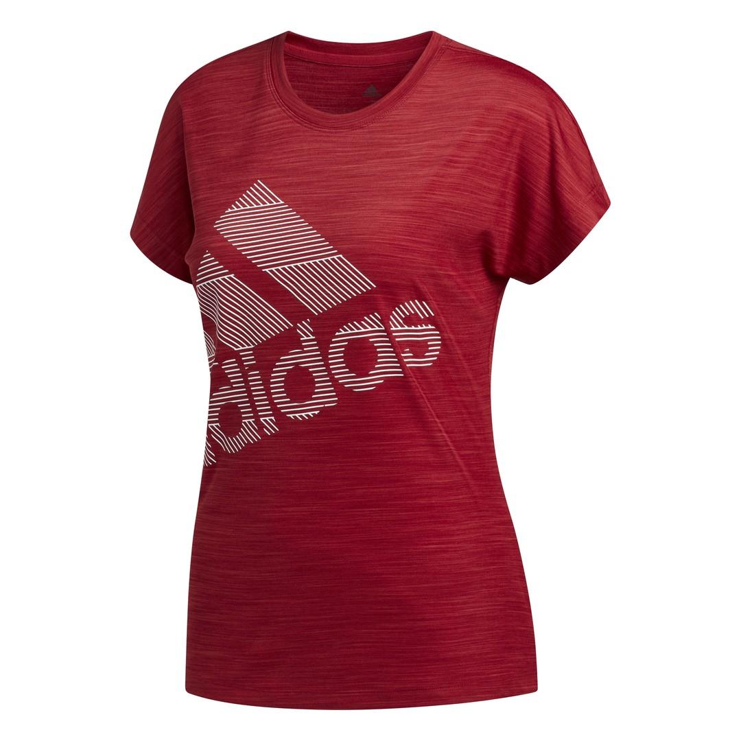 adidas SS BOS LOGO TEE, maja, rdeča