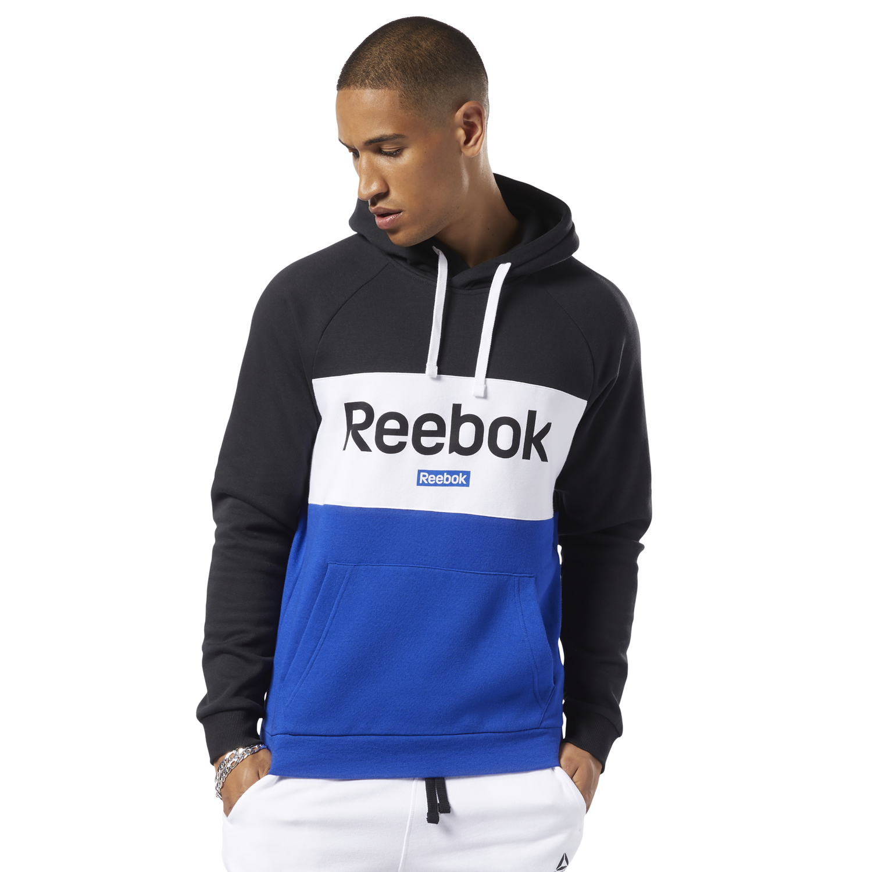 Reebok TE BIG LOGO OTH HOO, pulover m.fit, črna