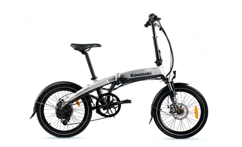 Kawasaki KBAF 20, električno kolo, srebrna