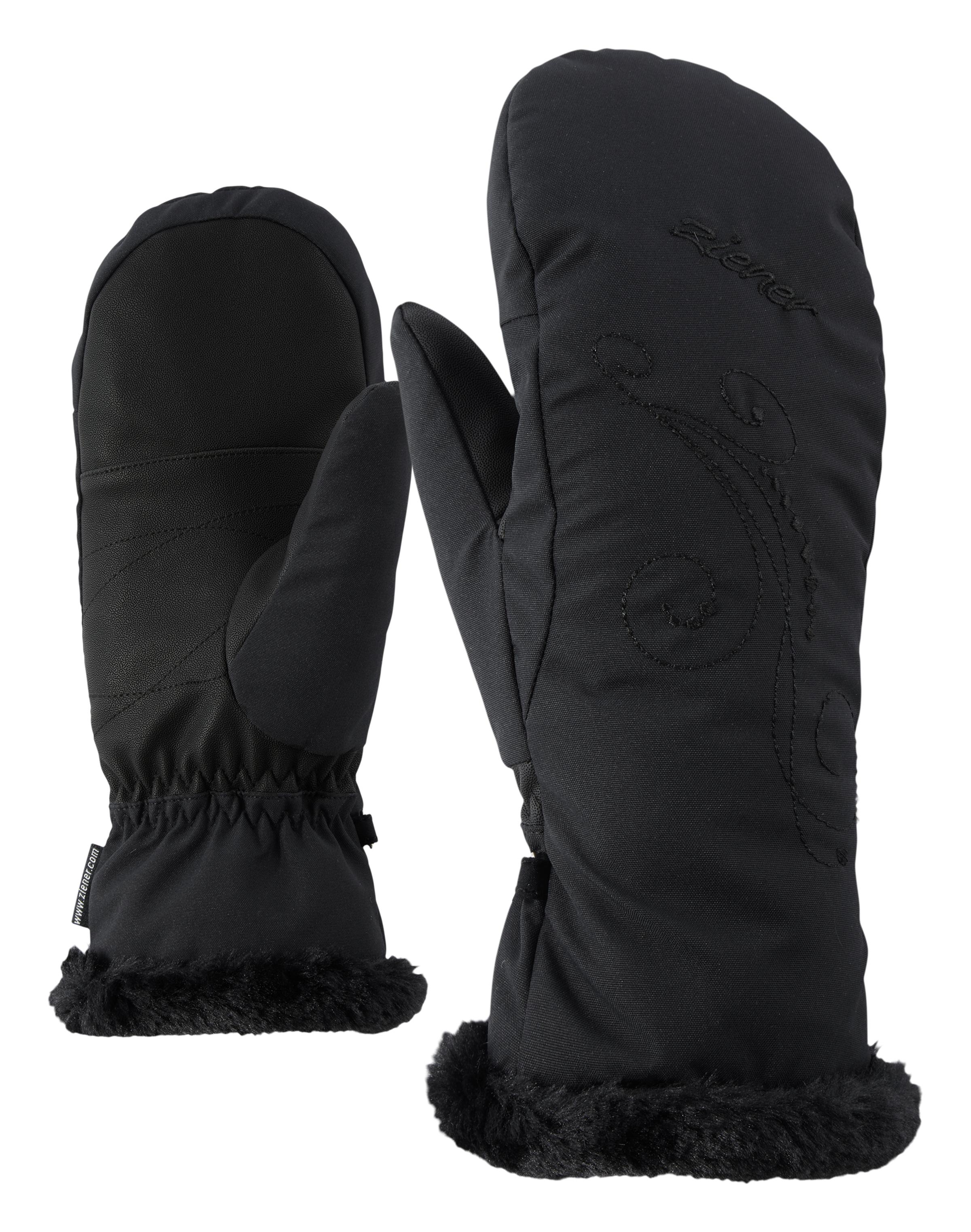 Ziener KIRANA MITTEN LADY, ženske smučarske rokavice, črna