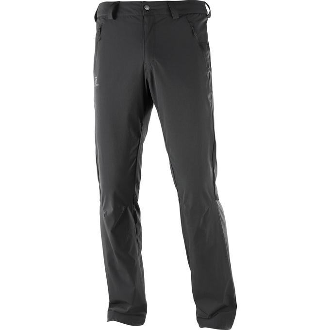 Salomon WAYFARER LT PANT M, moške pohodne hlače, črna