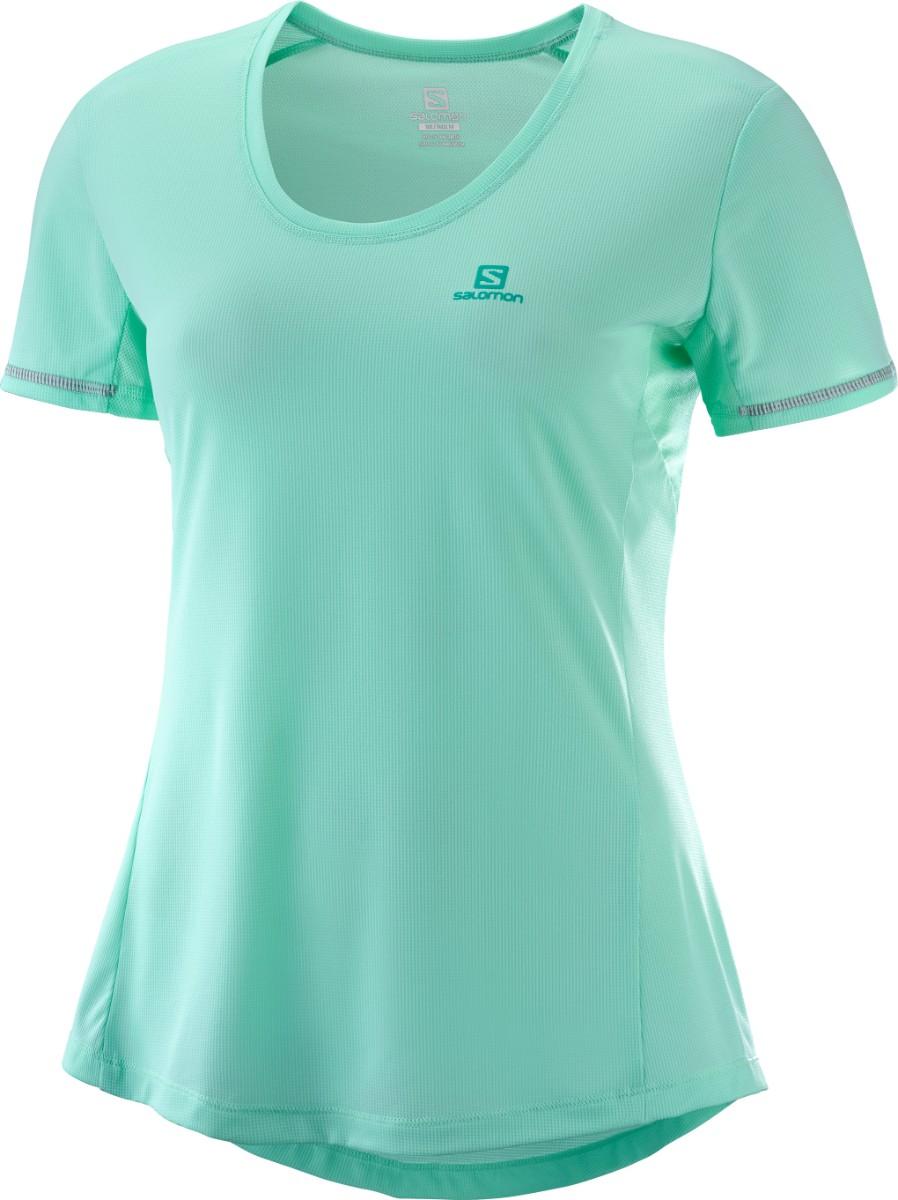 Salomon AGILE SS TEE, ženska tekaška majica, zelena