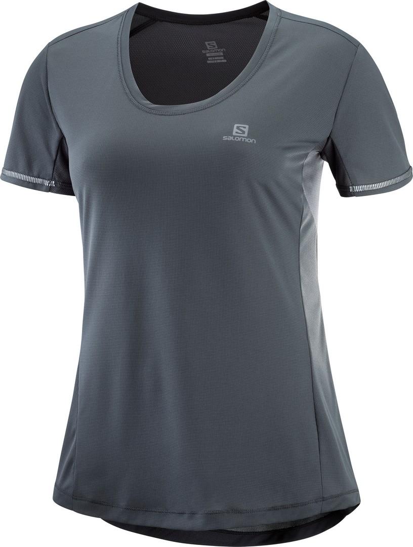 Salomon AGILE SS TEE W, ženska tekaška majica, siva