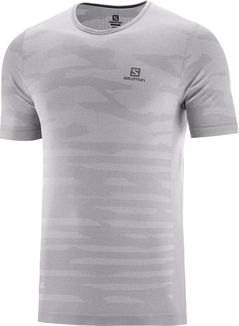 Salomon XA CAMO TEE, moška tekaška majica, siva