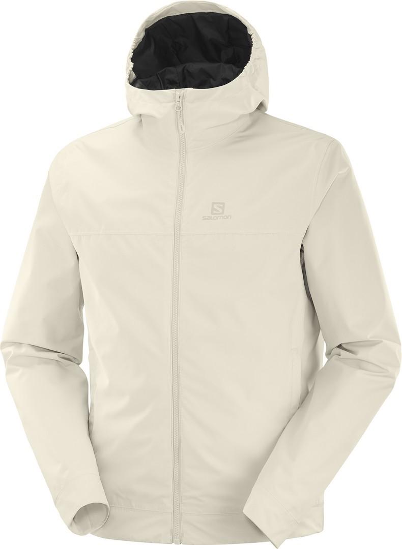 Salomon EXPLORE WP JKT M, moška pohodna jakna, bela