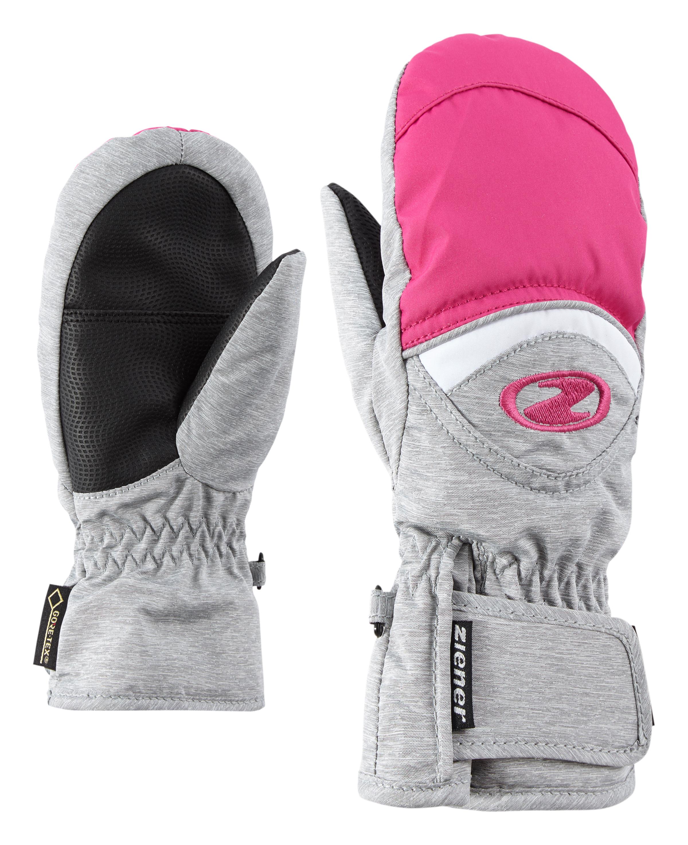 Ziener LISBO GTX® MITTEN JUNIOR, otroške smučarske rokavice, siva