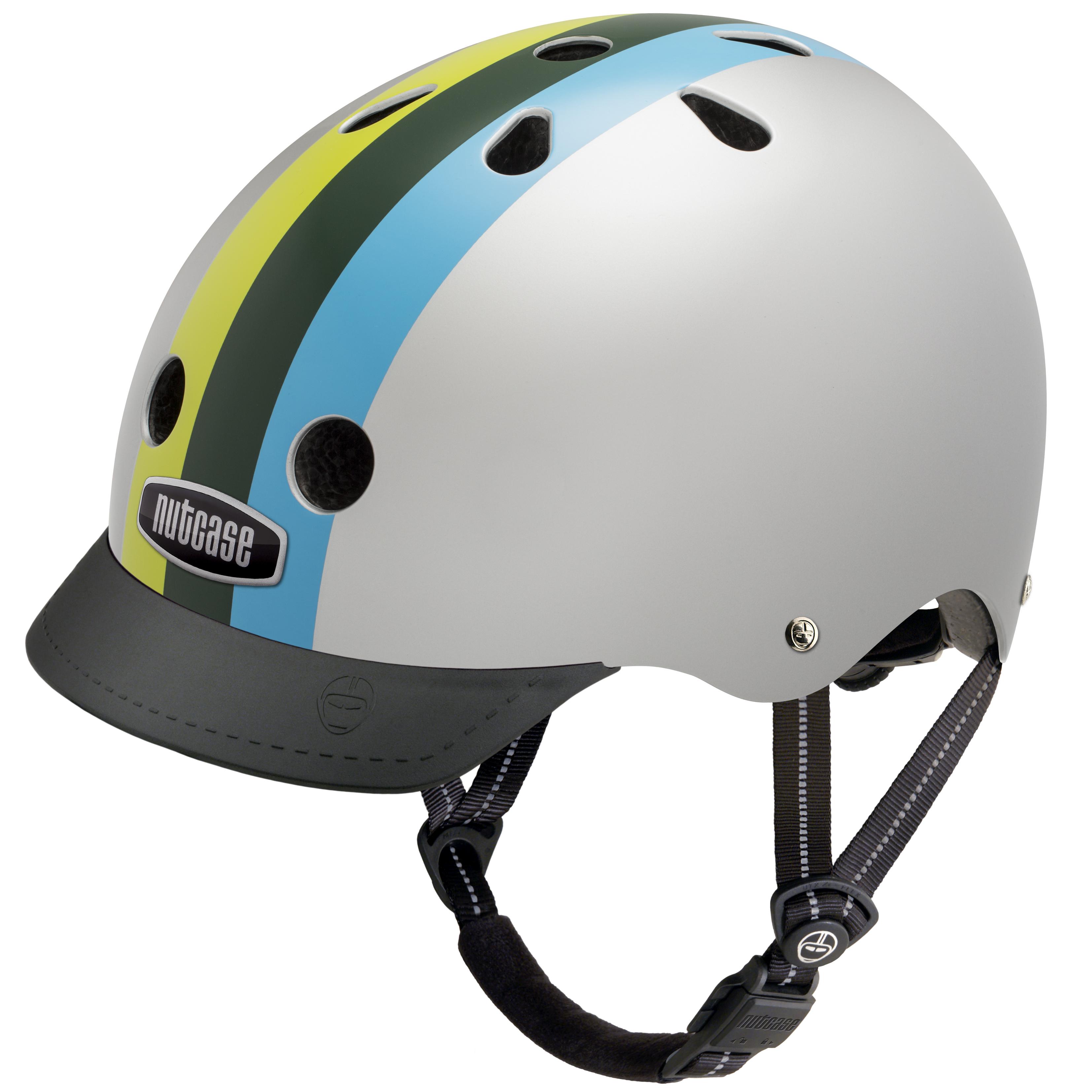 Nutcase STREET, kolesarska čelada, srebrna