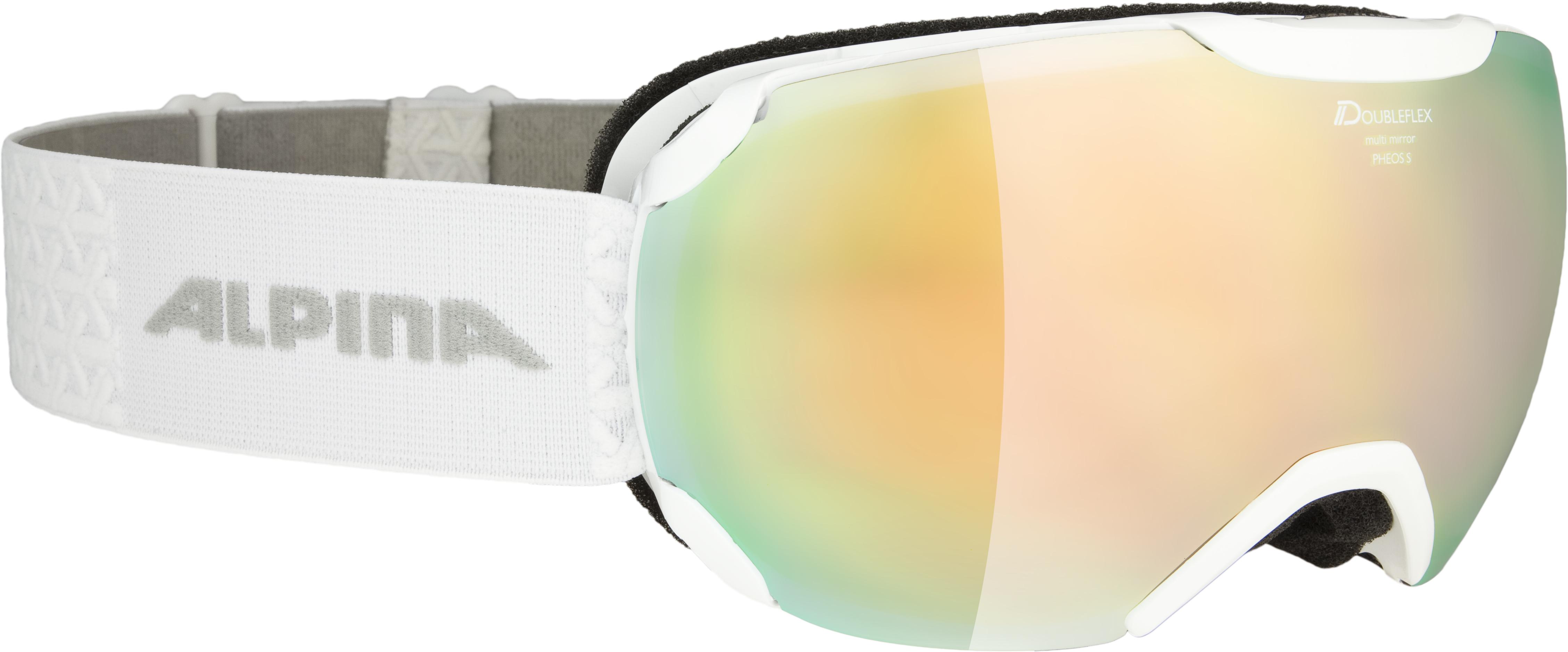 Alpina PHEOS S HM, smučarska očala, bela