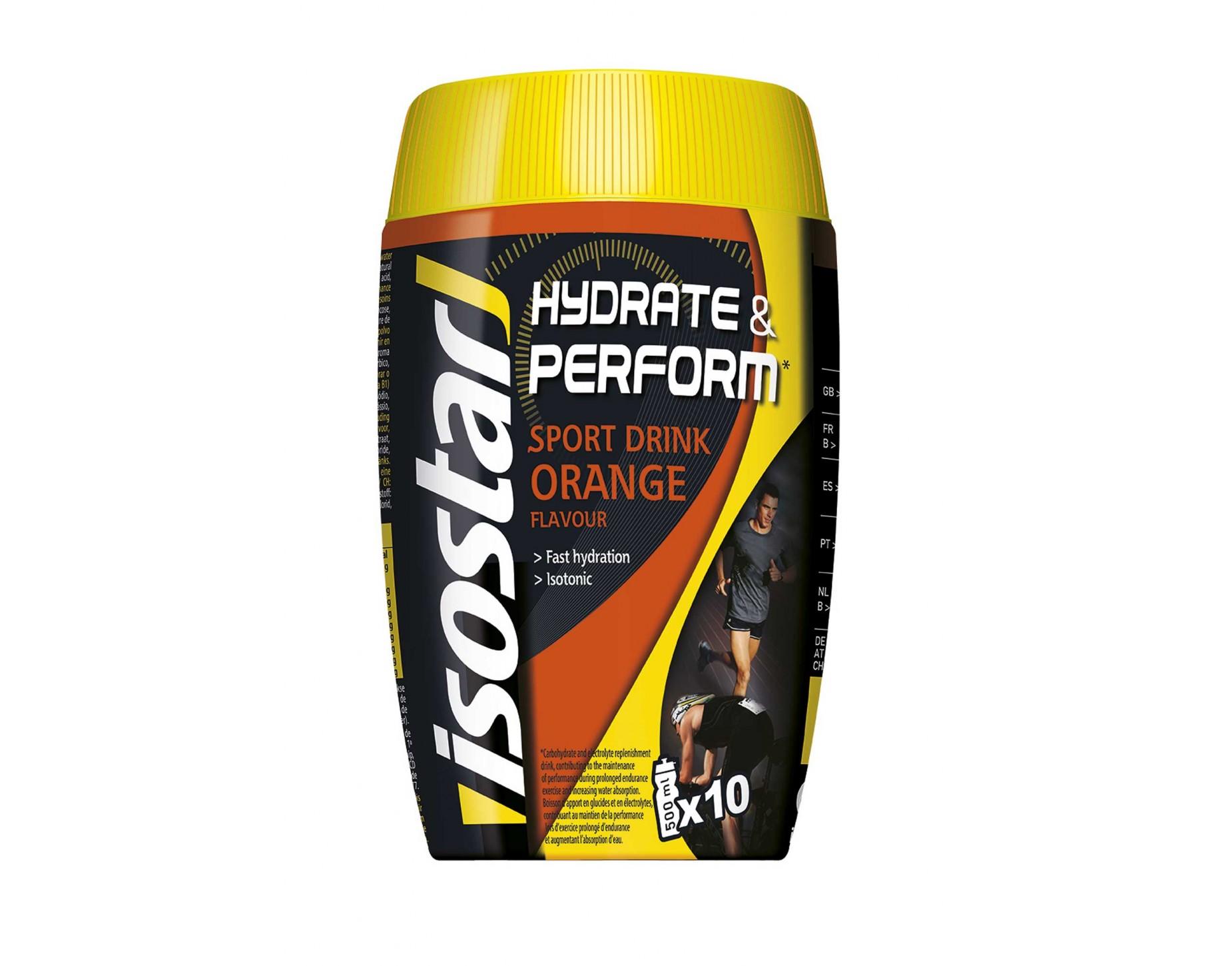 Isostar HIDRATE & PERFORM ORANGE 400G, športna prehrana, večbarvno