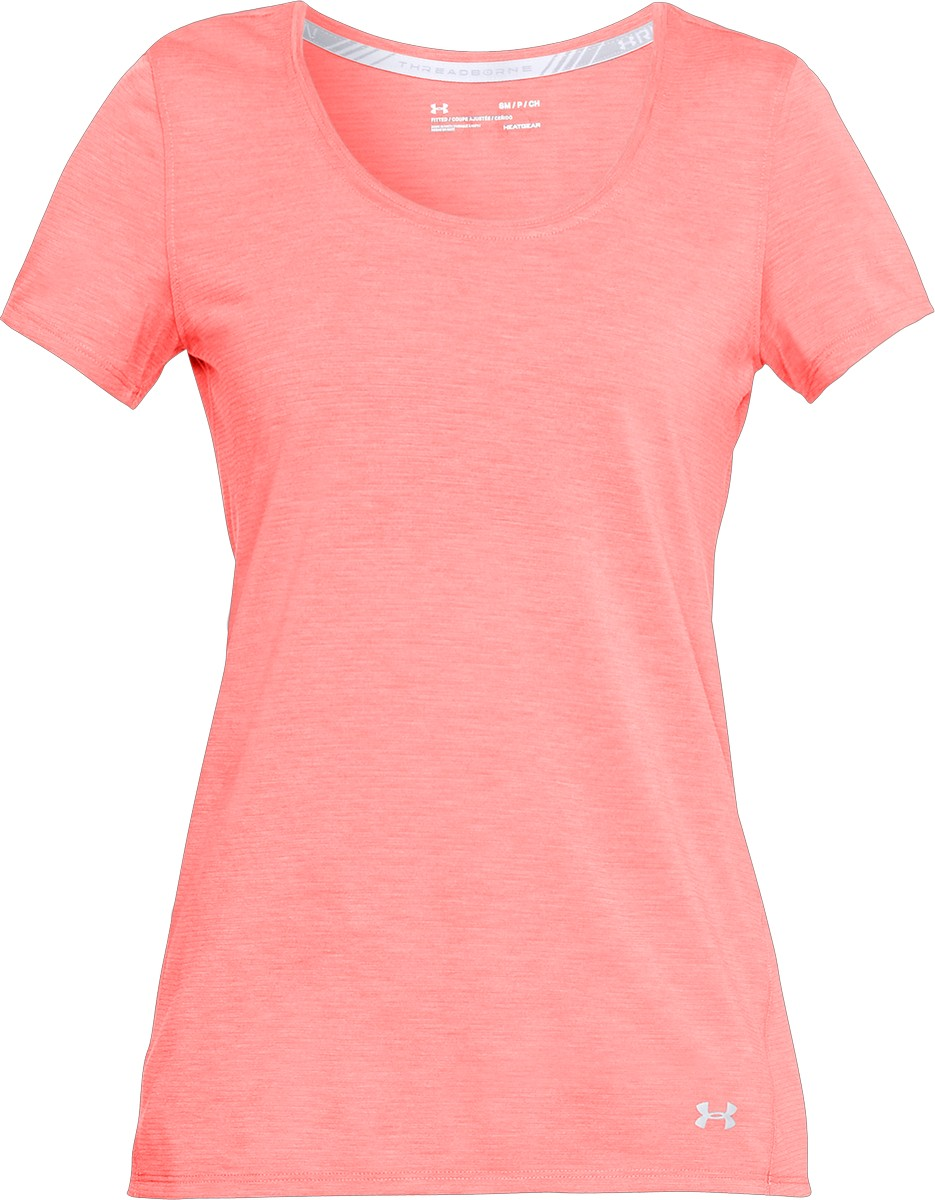 Under Armour THREADBORNE STREAKER SS-SEE/NNC/REF, ženska tekaška majica, roza