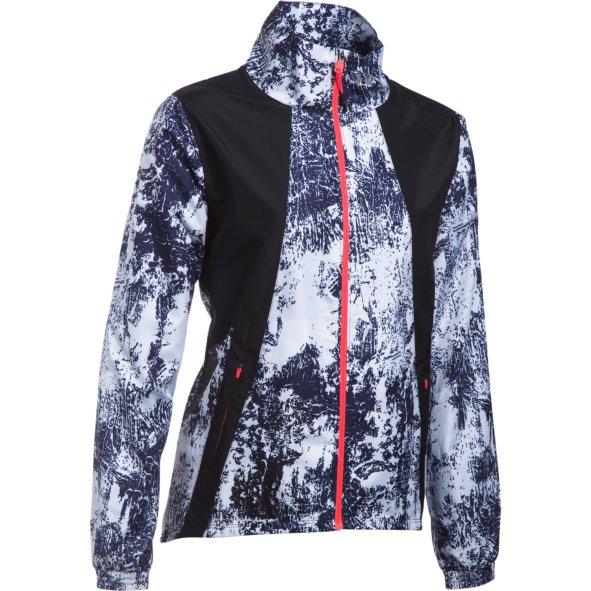 Under Armour INTL PRINTED RUN JACKET, ženska tekaška jakna, črna