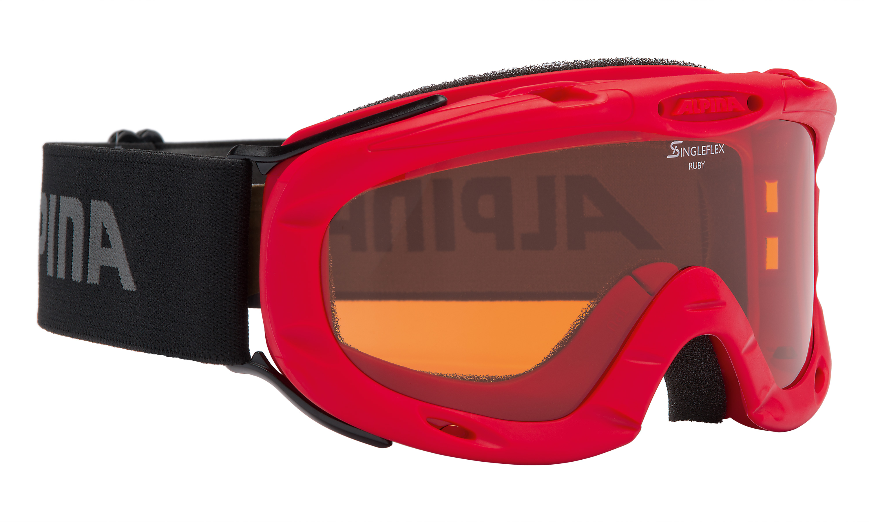 Alpina RUBY S, otroška smučarska očala, rdeča