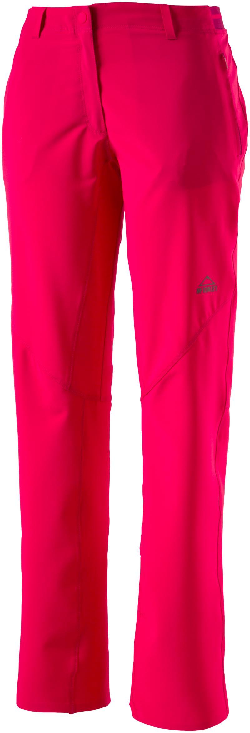 McKinley SALEM II WMS, ženske pohodne hlače, rdeča