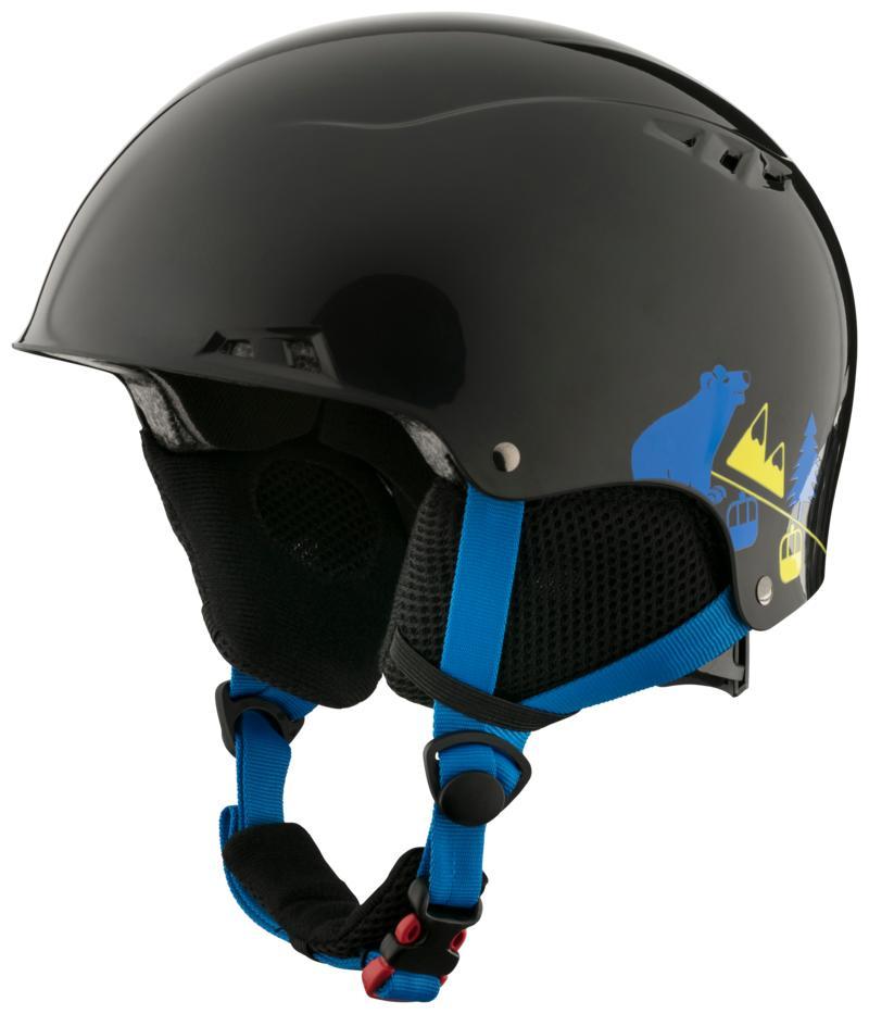 Tecnopro SNOWFOXY SK 587, otroška smučarska čelada, črna