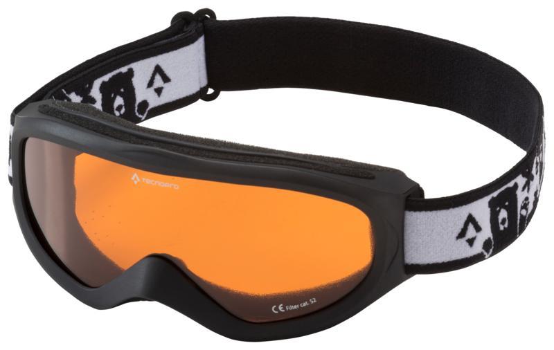 Tecnopro SNOWFOXY, otroška smučarska očala, črna