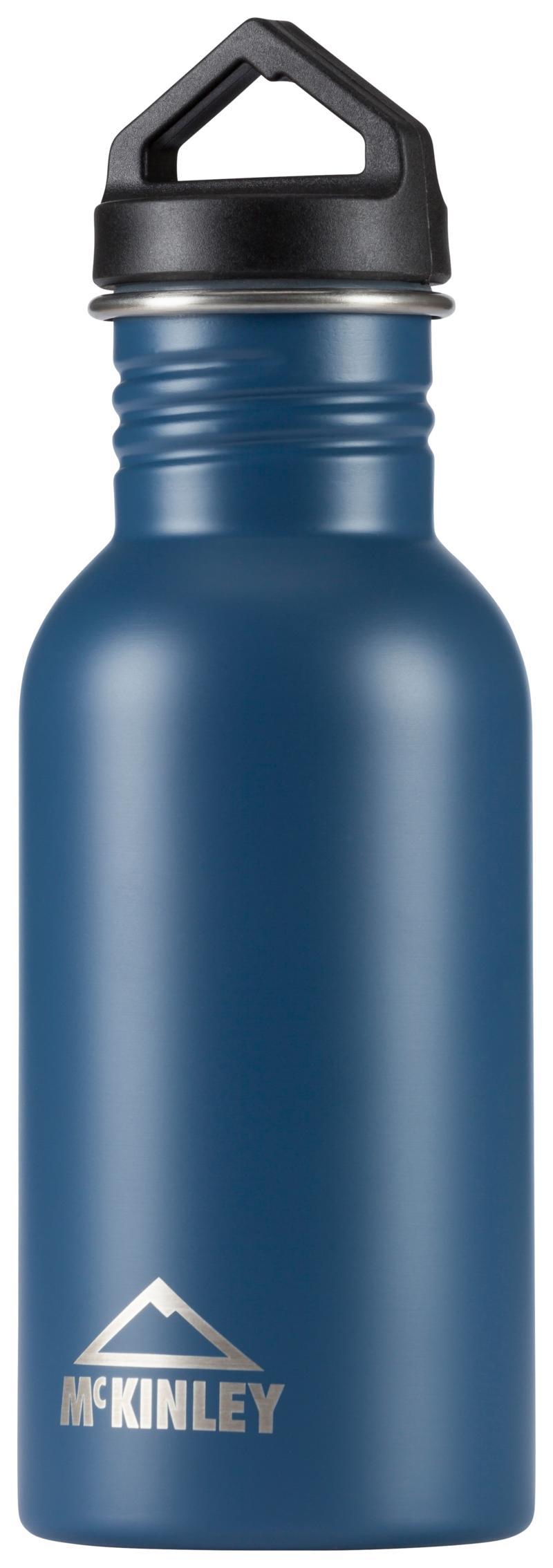 McKinley STAINLESS STEEL SINGLE SCREW 0,5L, steklenica alu, modra