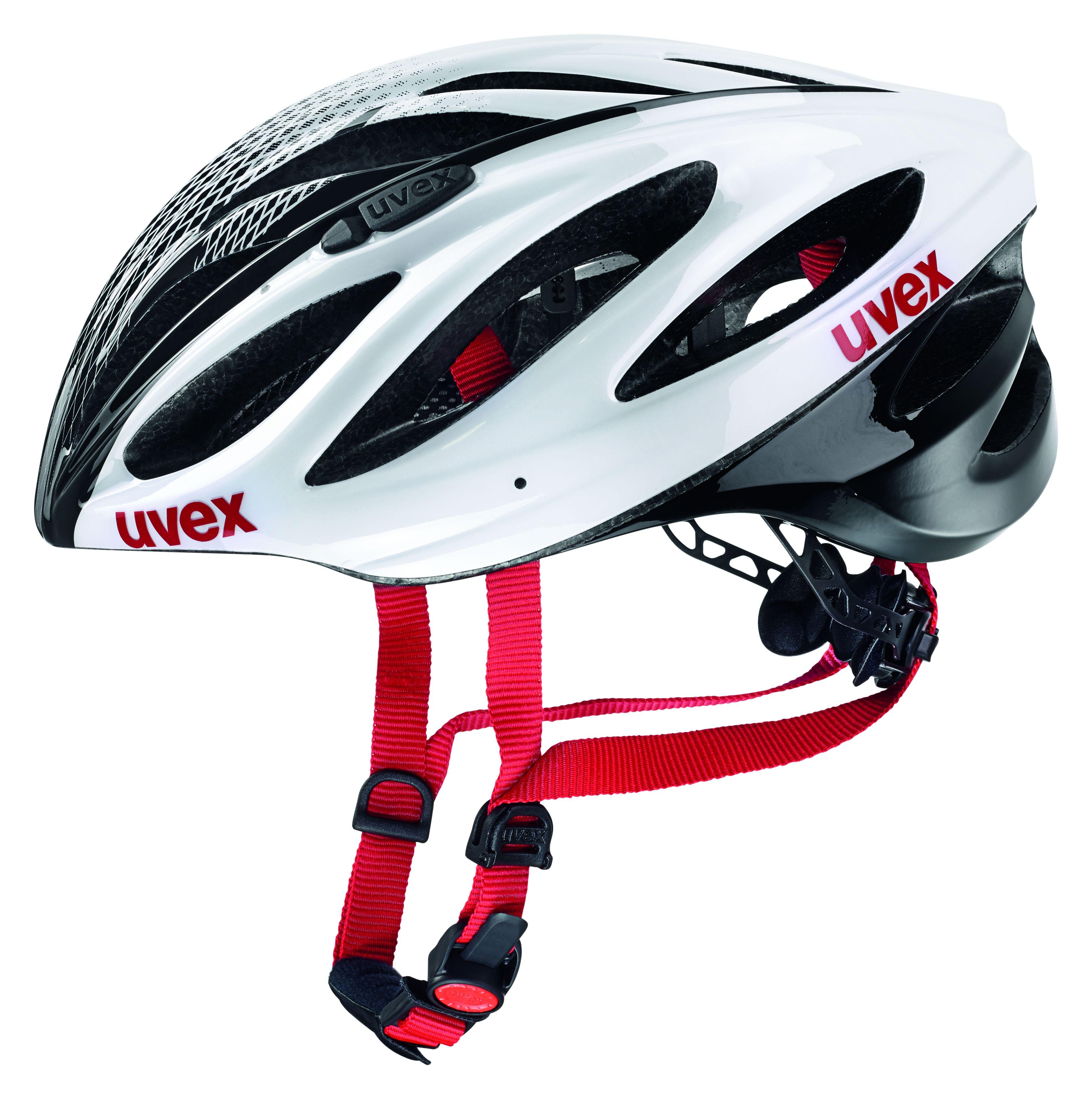 Uvex BOSS RACE, kolesarska čelada, bela
