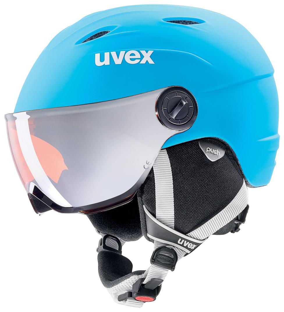 Uvex JUNIOR VISOR PRO, otroška smučarska čelada, modra