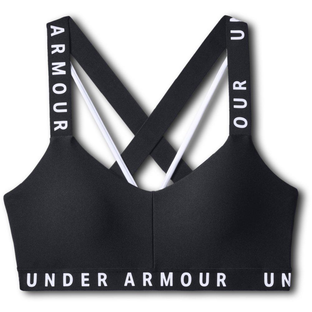 Under Armour WORDMARK STRAPPY SPORTLETTE, ženski športni nedrček, črna