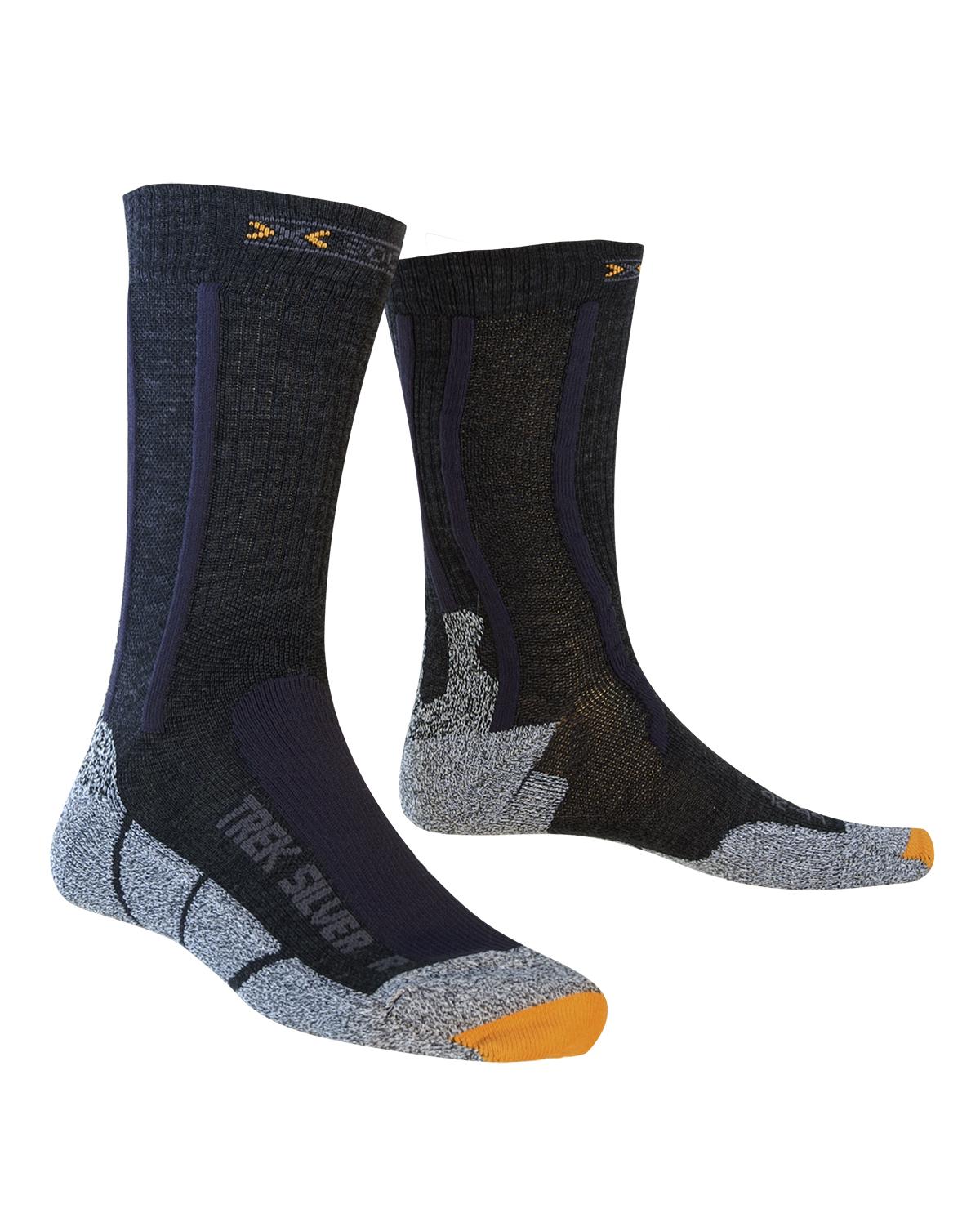 X-socks TREKKING SILVER, moške pohodne nogavice, črna
